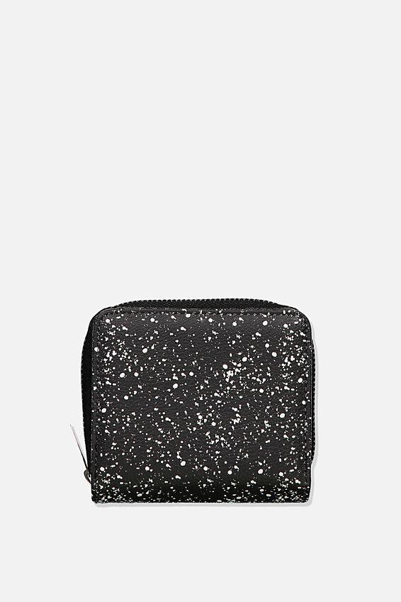 Rfid Mini Wallet, BLACK SPLATTER