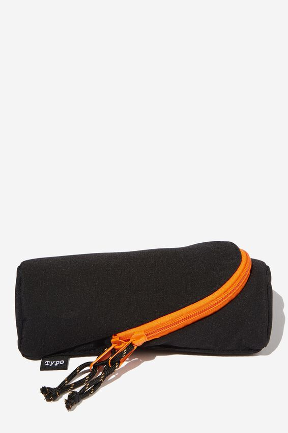 Stand Up Pencil Case, BLACK CANVAS