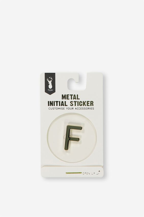 Metal Stickers, GOLD F