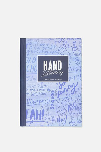 A5 Fashion Activity Journal, HAND LETTERING