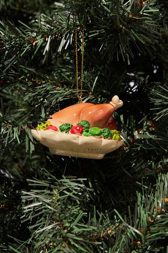 Resin Christmas Ornament, ROAST TURKEY