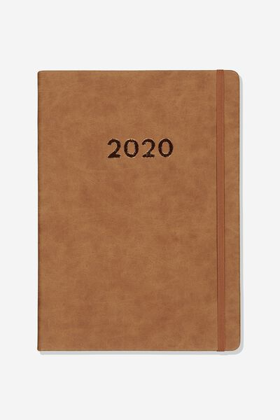 2020 A4 Weekly Buffalo Diary, MID TAN