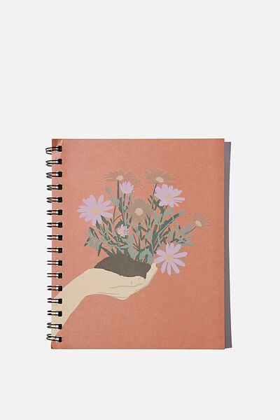 A5 Campus Notebook Recycled, PLANT IN THE HAND
