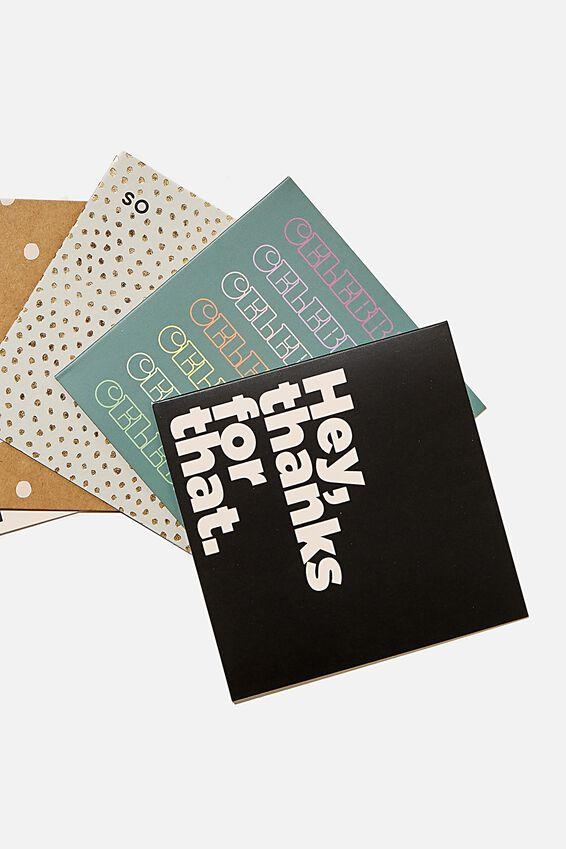 Card Set 10 Pack, MIXED THANKYOU CONGRATS
