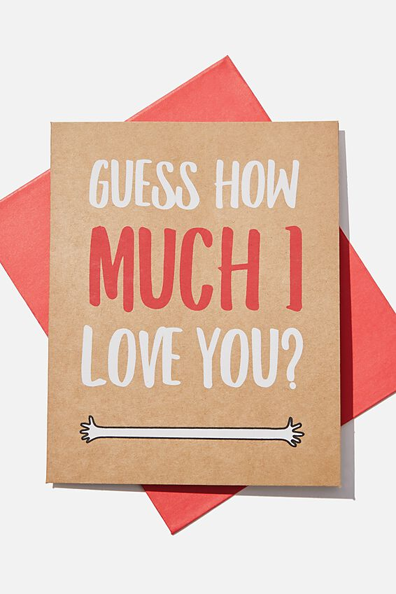 Premium Love Card, GUESS HOW MUCH CRAFT