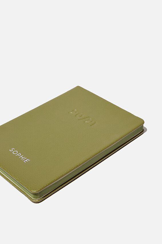 Personalisation 2020 21 A5 Weekly Buffalo Diary, KHAKI