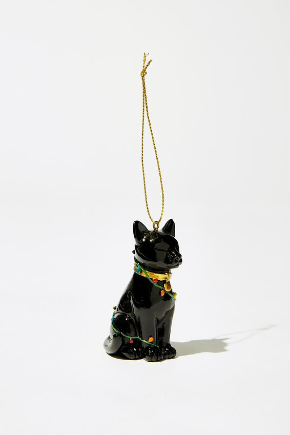 Christmas Ornament, CAT IN LIGHTS