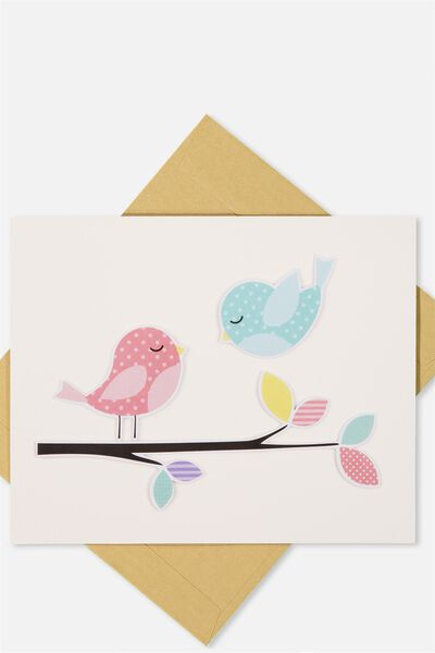 Embellishment Card, BL-BIRDY BRANCH