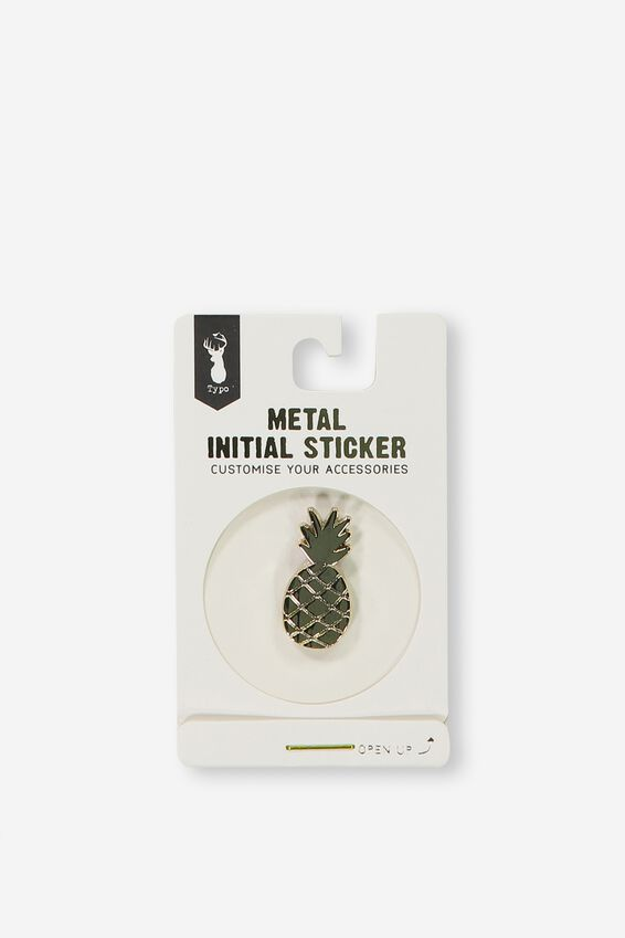 Metal Stickers, GOLD PINEAPPLE