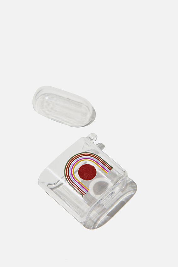 Premium Ear Bud Sleeve, OVERSIZED RAINBOW