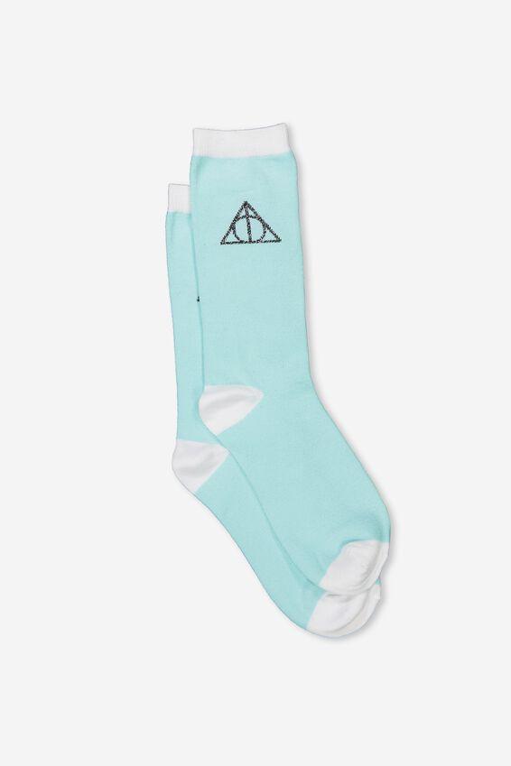 Womens Novelty Socks, LCN HP HALLOWS