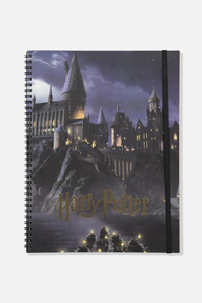 A4 Spinout Notebook - 120 Pages, LCN HARRY POTTER HOGWARTS