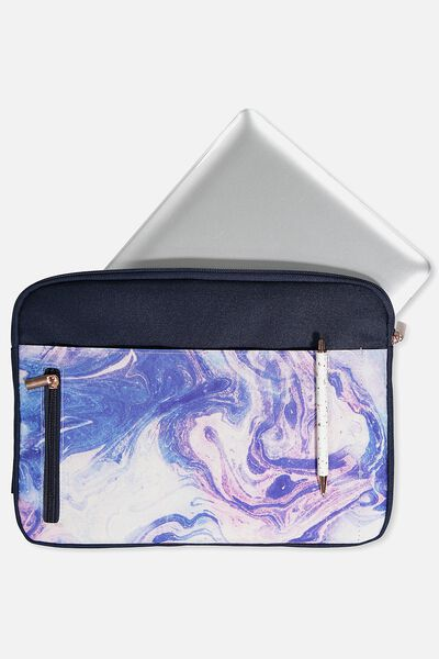 "Take Charge Laptop Cover 13"", MERMAID MARBLE"