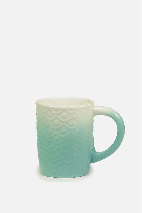 Novelty Shaped Mug, MERMAID TAIL HANDLE