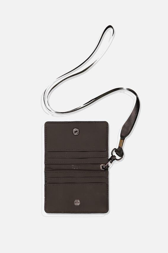 Utility Cardholder W/Lanyard, KHAKI