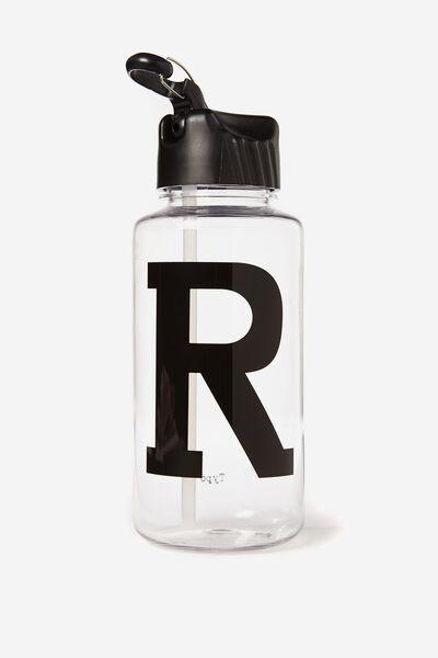 Alphabet Drink Bottle, BLACK R