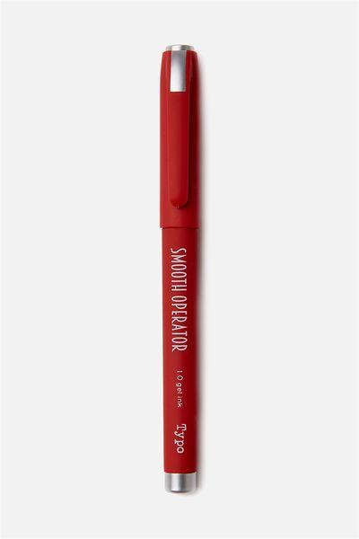 Smooth Operator Gel Pen, RED