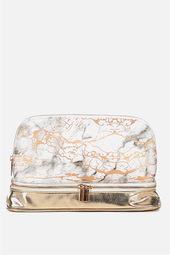 Cachet Wash Bag, ROSE GOLD MARBLE