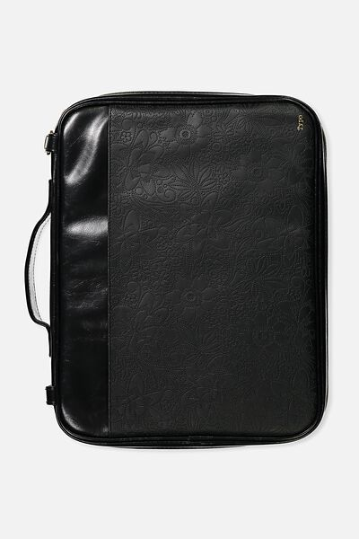 Mobile Laptop Folio, BLACK TOOLED