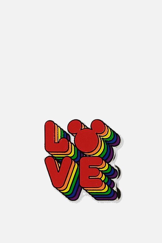 Disney Enamel Badge, LCN DIS LOVE MICKEY PRIDE