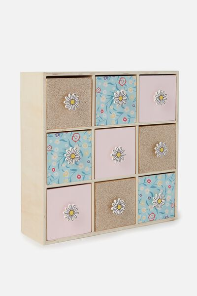 Square Quick Drawer Storage, FLORAL PATCHWORK