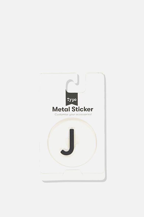 Metal Stickers, BLACK J