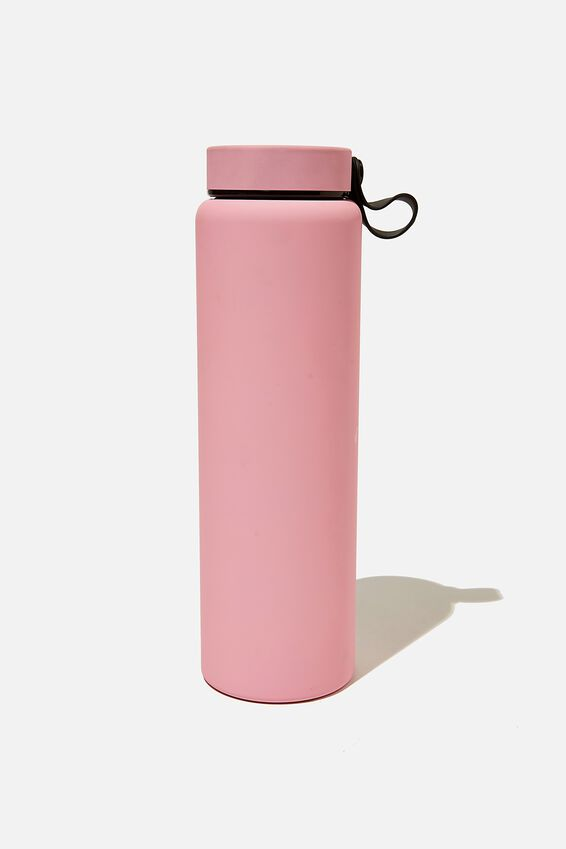 On The Move Metal Drink Bottle 1L, PLASTIC PINK