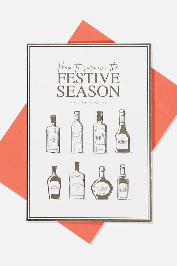 Christmas Card 2019, HOW TO SURVIVE DRINKS