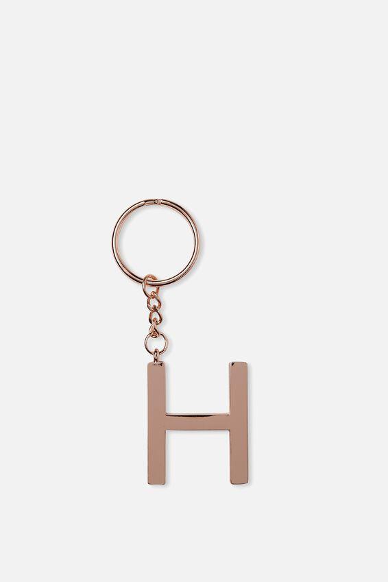 Alphabet Keyring, ROSE GOLD H