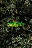 Resin Christmas Ornament, WREATH ALLIGATOR