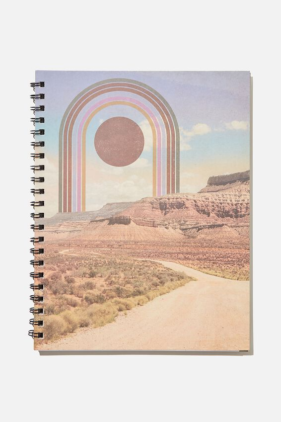 A4 Campus Notebook Recycled, DESERT RAINBOW