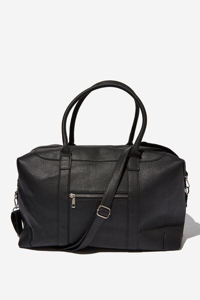 Nuevo Overnighter Bag, BLACK