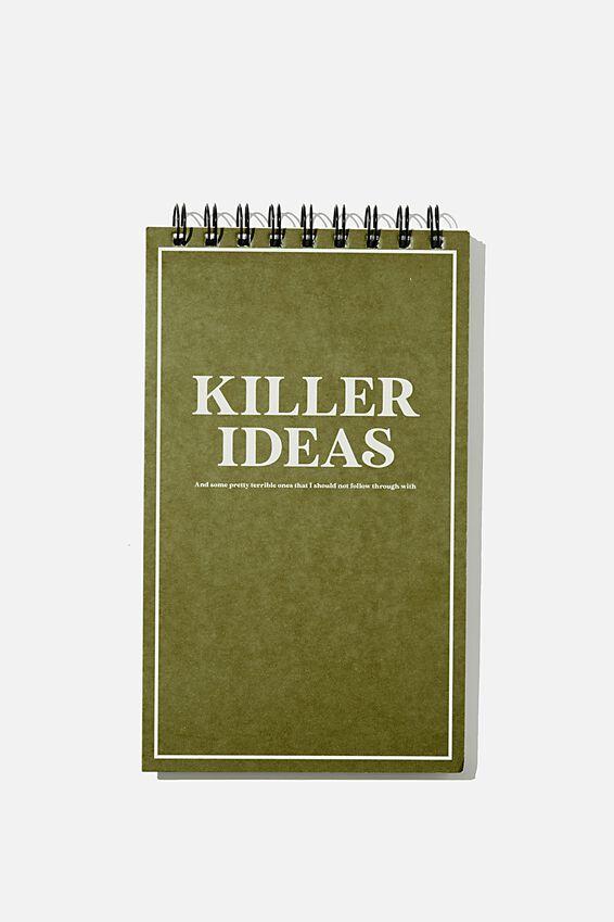 Flipout Notepad Recycled, KILLER IDEAS KHAKI