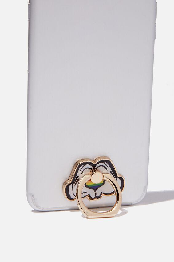 Disney Metal Phone Ring, LCN DIS MICKEY PRIDE HANDS