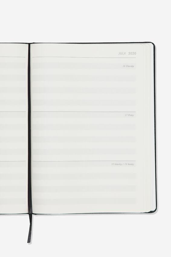 2020 A4 Weekly Buffalo Diary, BLACK