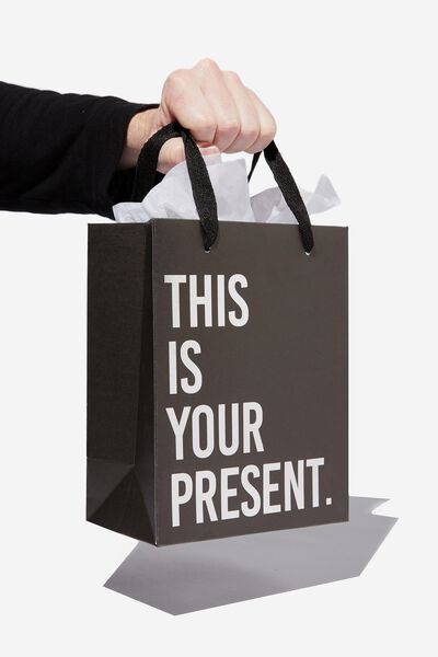 Small Stuff It Gift Bag, SILVER THIS IS YOUR PRESENT