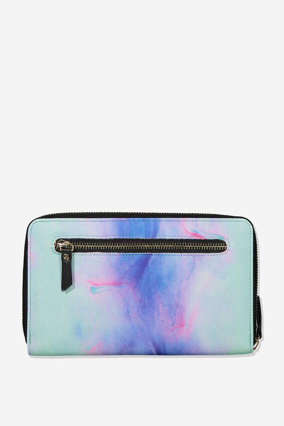 Rfid Odyssey Travel Compendium Wallet, PARADISE WATERCOLOUR