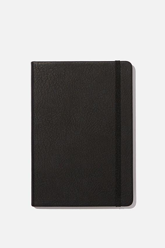 A5 Dot Buffalo Journal, JET BLACK
