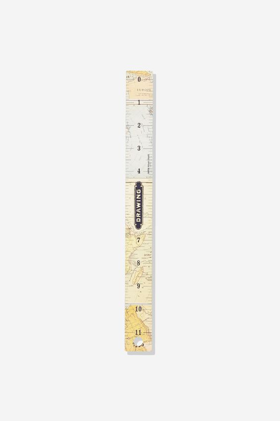 Novelty Ruler 30Cm, MAP PRINT