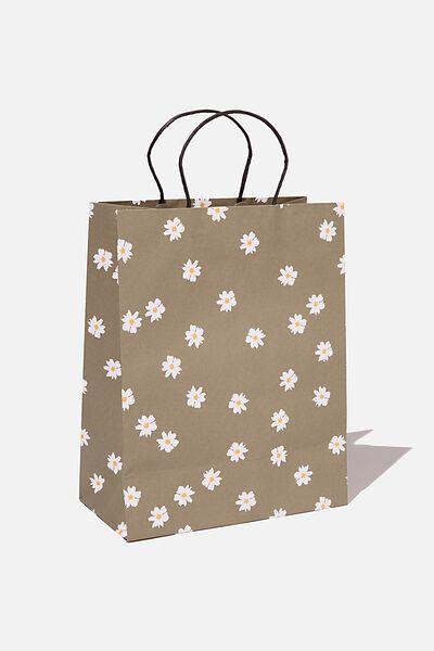 Get Stuffed Gift Bag - Medium, DAISY KHAKI