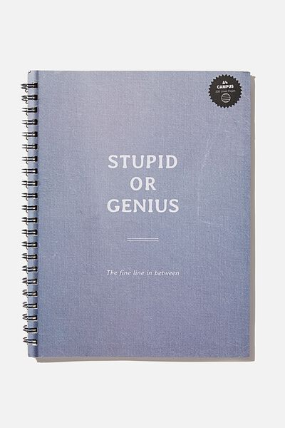 A4 Campus Notebook Recycled, STUPID OR GENIUS