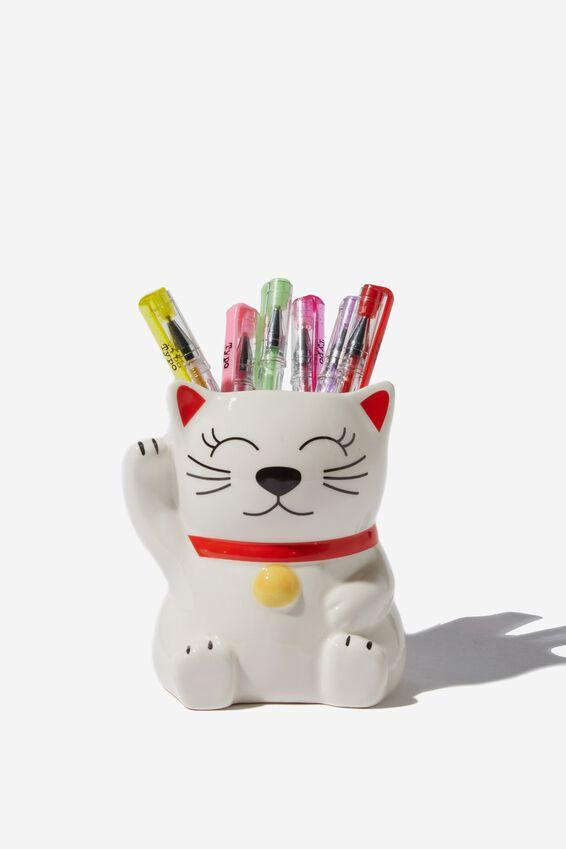 Pen Holder, LUCKY CAT