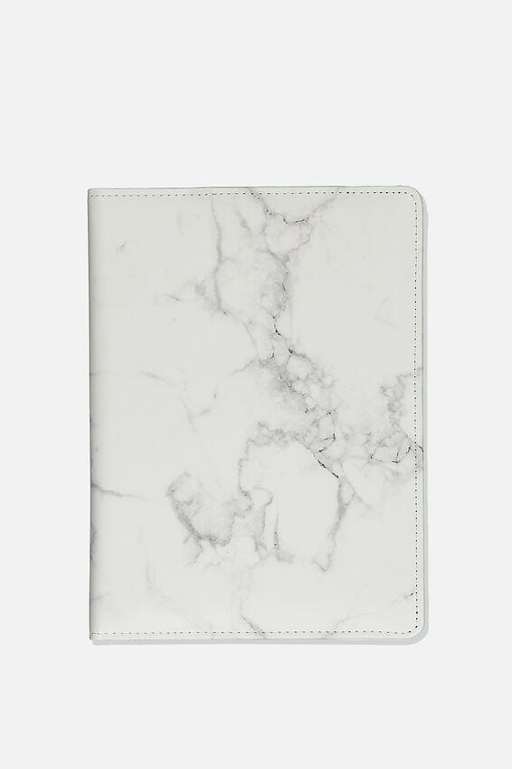 A5 Compendium, WHITE MARBLE