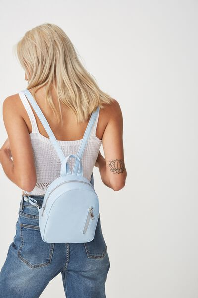 Mini Arch Backpack, POWDER BLUE