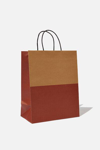 Get Stuffed Gift Bag - Medium, KRAFT RUST