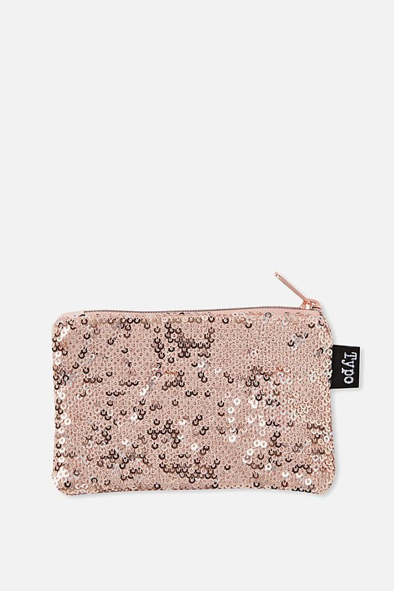 Penny Coin Purse, ROSE GOLD