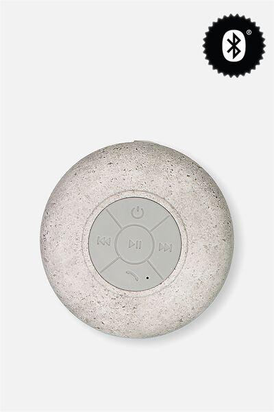 Waterproof Bluetooth Shower Speaker, CONCRETE