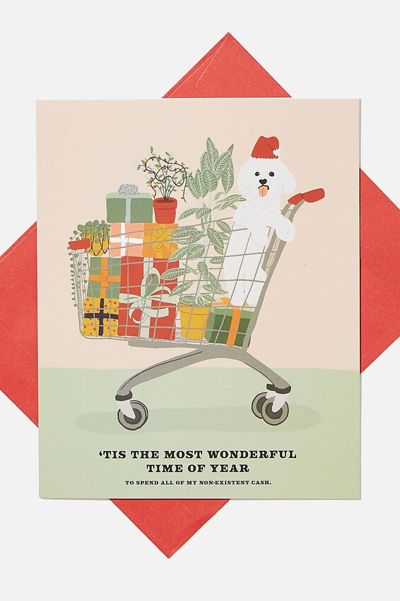 Christmas Card 2020, WONDERFUL TIME OF YEAR DOG TROLLEY!