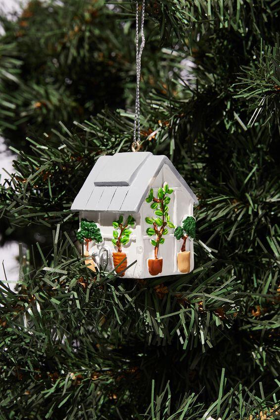 Resin Christmas Ornament, GREENHOUSE