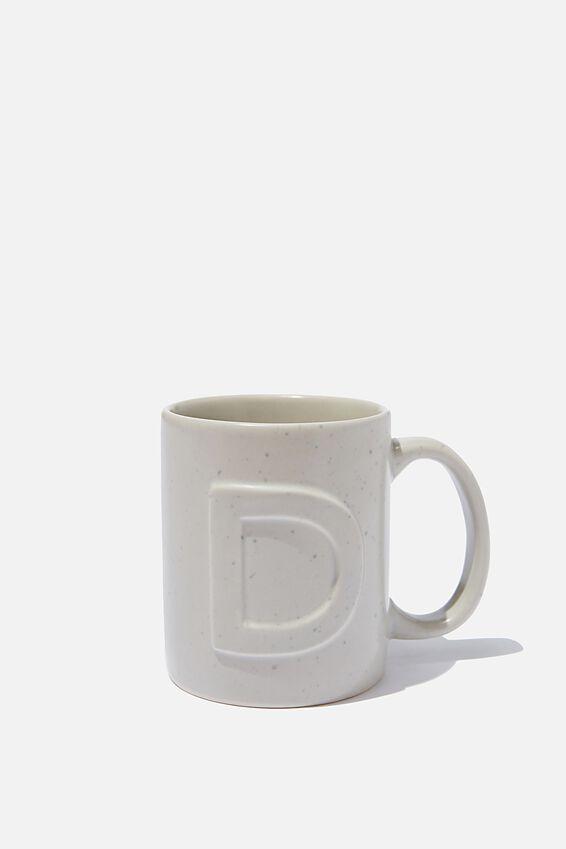 Alphabet Anytime Mug, SPECKLED D